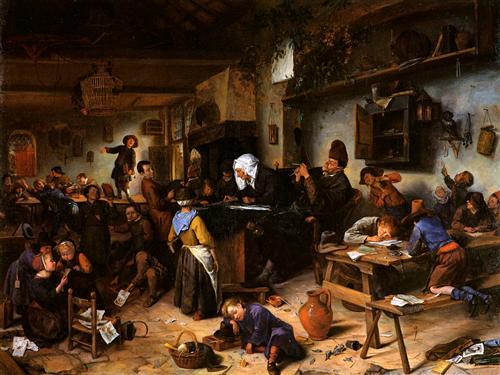 La escuela del pueblo - Jan Steen