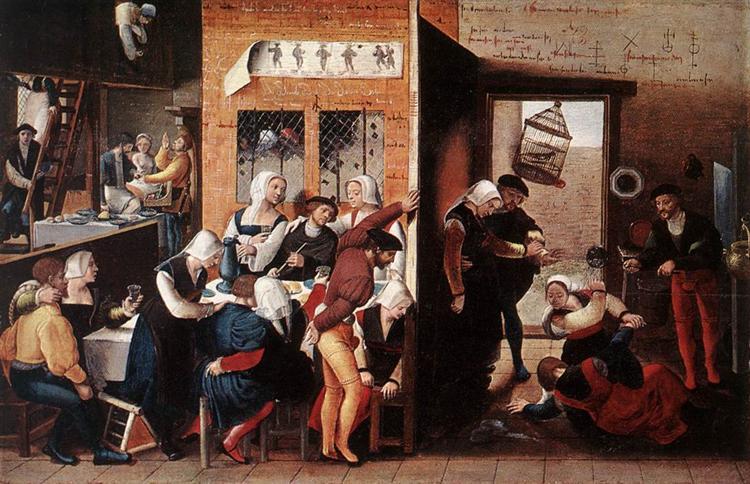 A Merry Company, c.1540 - Jan van Hemessen