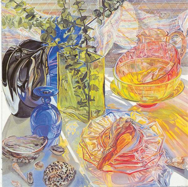 Glass and Shells, 1990 - Janet Fish