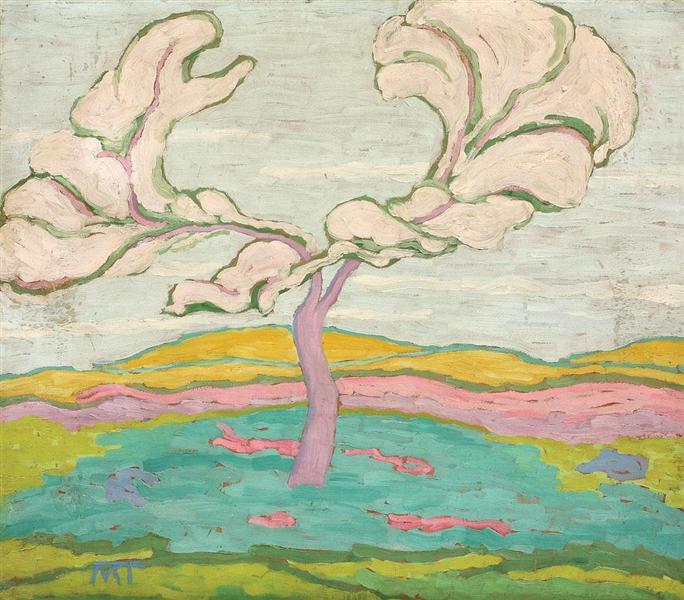 Blooming Cherry Tree - Janos Mattis-Teutsch