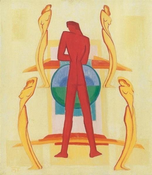 Composition with Five Figures - Janos Mattis-Teutsch
