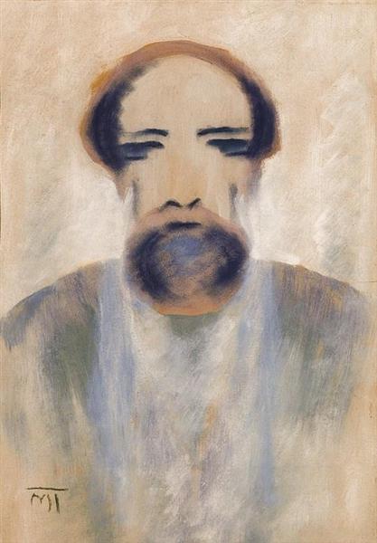 Portrait of Brancusi - Janos Mattis-Teutsch