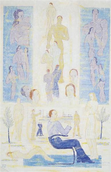 The Dream of the Painter, 1947 - Janos Mattis-Teutsch