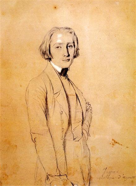 Franz Liszt - Jean Auguste Dominique Ingres