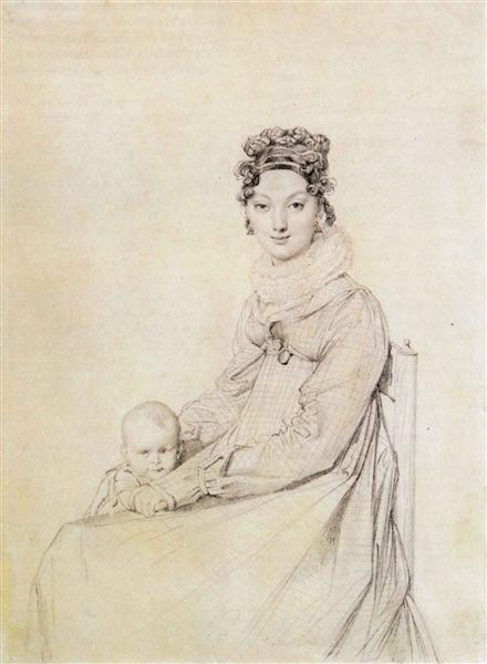 Madame Alexandre Lethiere, born Rosa Meli, and her daughter, Letizia - Jean Auguste Dominique Ingres