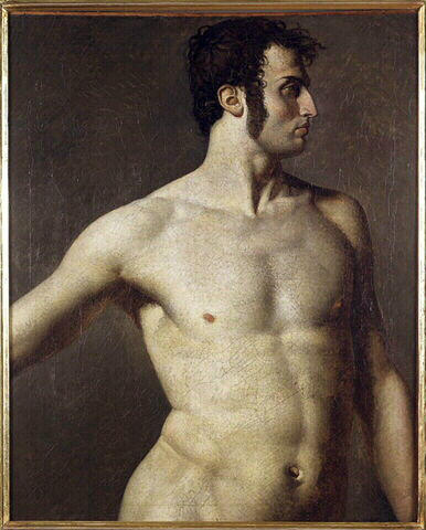Male torso, c.1800 - Jean Auguste Dominique Ingres