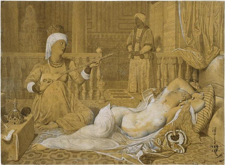 Odalisque with Slave, 1858 - Jean Auguste Dominique Ingres