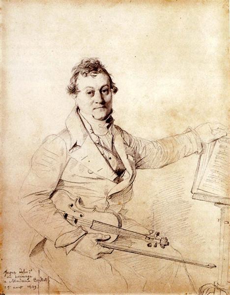 Pierre Marie François de Sales Baillot - Jean Auguste Dominique Ingres
