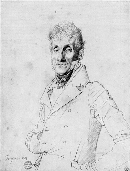 Portrait of a Man, possible Edmé Bochet - Jean Auguste Dominique Ingres