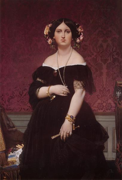 Portrait of Madame Moitessier Standing, 1851 - Jean Auguste Dominique Ingres