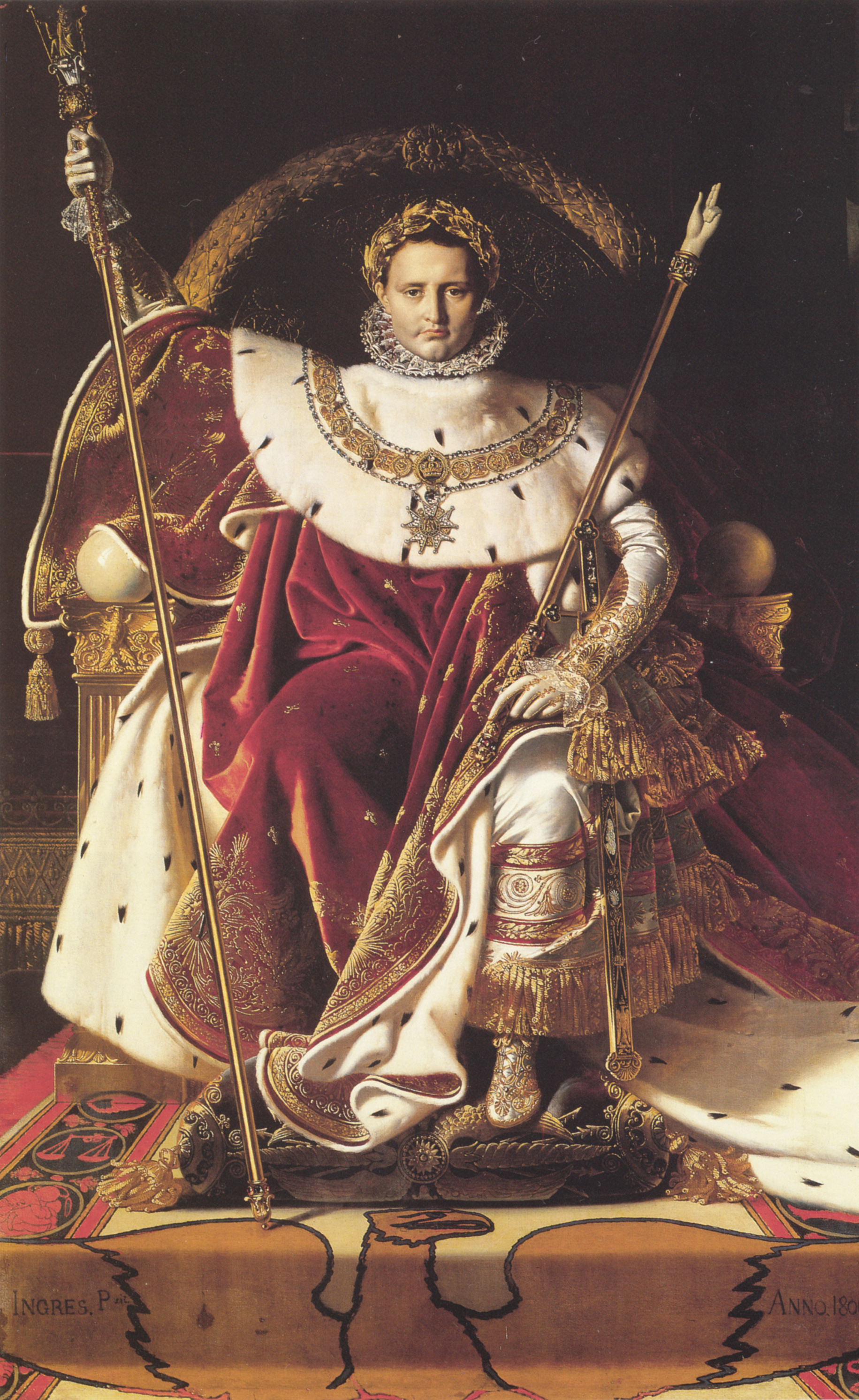 Portrait of Napoléon on the Imperial Throne, 1806