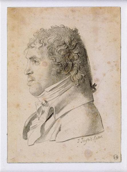 Portrait Suvée, director of the Academy of France in Rome, 1806 - Jean Auguste Dominique Ingres