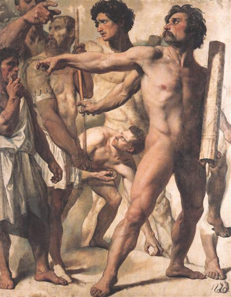 Study for The Martyrdom of St. Symphorien, 1824 - 1834 - Jean Auguste Dominique Ingres