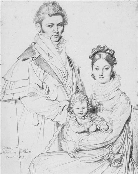 The Alexandre Lethiere Family - Jean Auguste Dominique Ingres