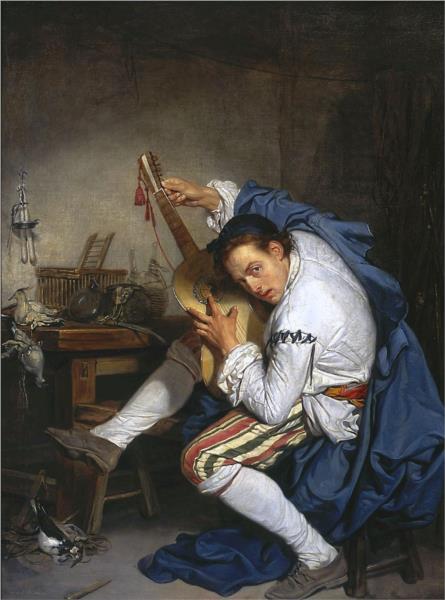 The Guitarist, 1757 - Жан Батіст Грьоз