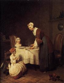The Prayer before Meal - Jean-Baptiste-Simeon Chardin