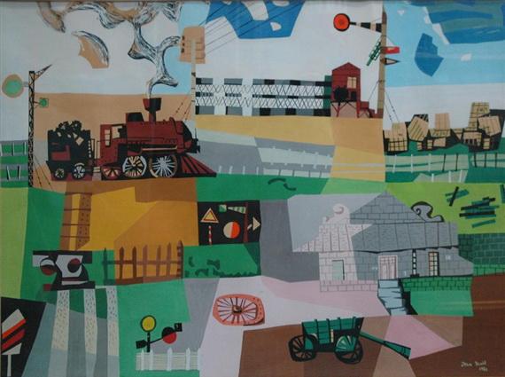 Untitled (Railroad), 1950 - Jean David