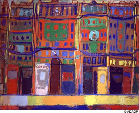 View of Paris, small business, 1944 - Jean Dubuffet