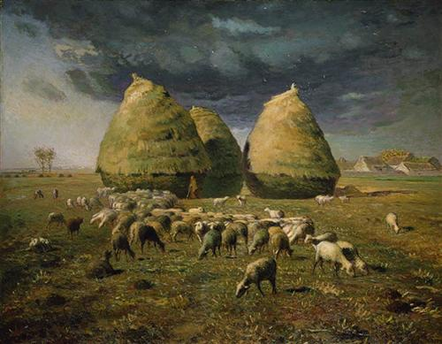 Haystacks Autumn - Jean-Francois Millet