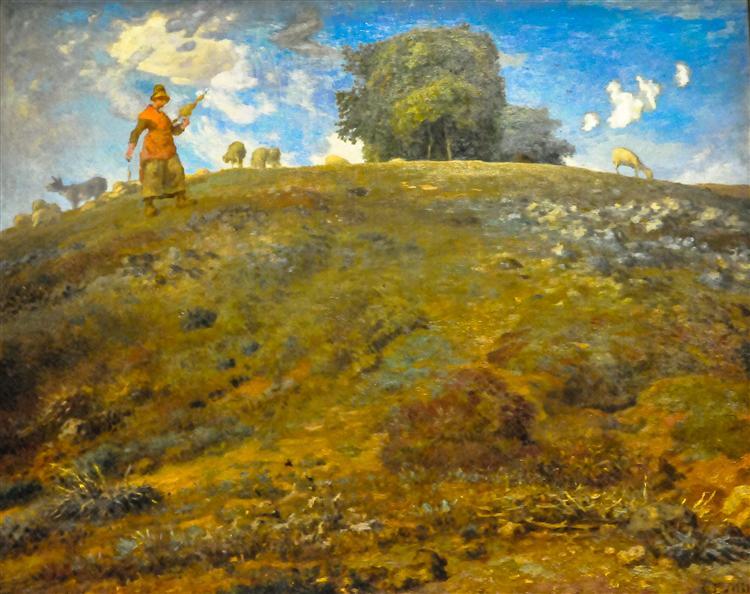 In the Auvergne, 1869 - Jean-Francois Millet