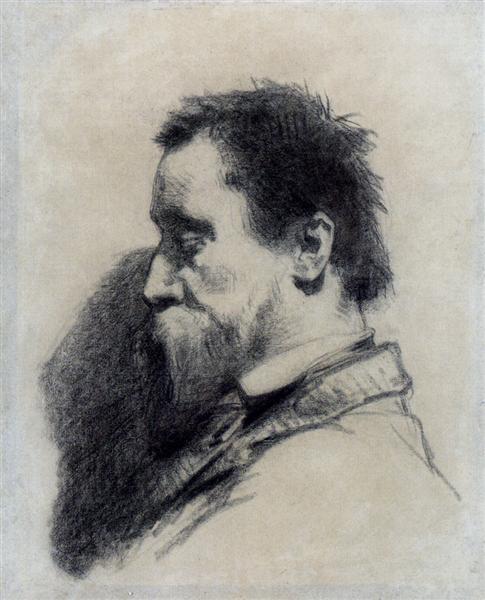 Portrait Of A Man, Said To Be Leopold Desbrosses - Jean-Francois Millet