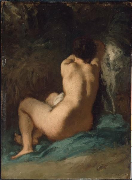 Seated Nude - Jean-Francois Millet