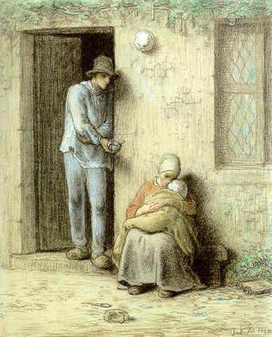 The Infant (The Sick Child), 1858 - Jean-Francois Millet