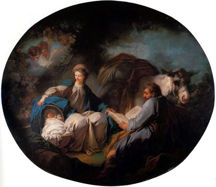 Rest on the Flight into Egypt - Jean-Honore Fragonard