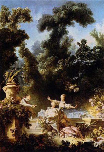 The Progress of Love The Pursuit, 1773 - Jean-Honore Fragonard