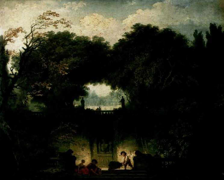 The Small Park, c.1762 - 1763 - Jean-Honore Fragonard
