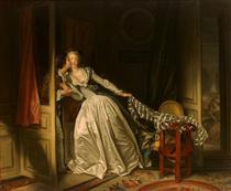 The Stolen Kiss - Jean-Honore Fragonard