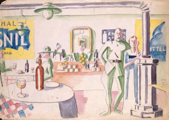 Interieur d'un bar, 1917 - Jean Hugo