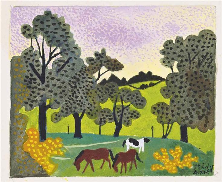 Les trois chevaux, 1975 - Jean Hugo