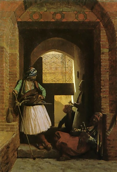 Arnauts of Cairo at the Gate of Bab-el-Nasr - Jean-Leon Gerome