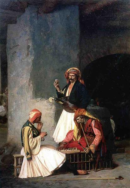 The Draught Players, 1859 - Jean-Leon Gerome
