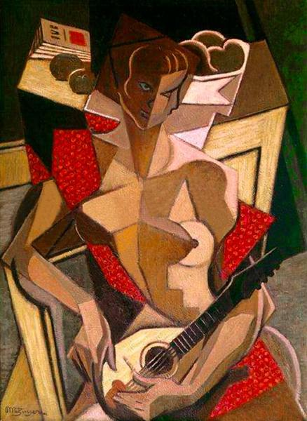 Woman with a mandolin, 1950 - Jean Metzinger
