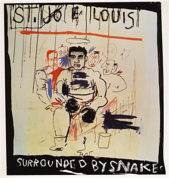 St. Joe Louis Surrounded Snake, 1982 - Jean-Michel Basquiat ...