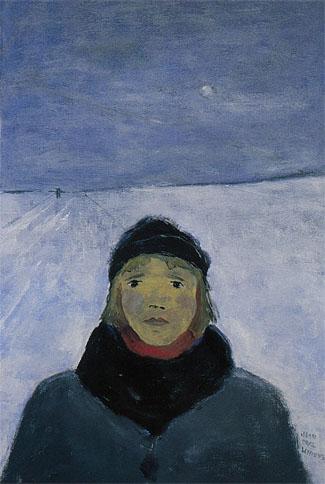 Jeune fille, l'hiver, 1977 - Jean Paul Lemieux