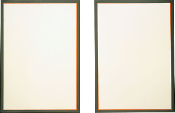 Untitled (Vertical Flanking Diptych - Red), 1974 - Jo Baer