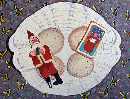 Plate of Christmas Cookies, 1971 - Joan Brown
