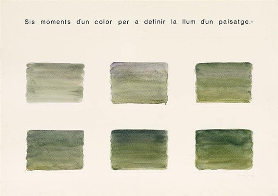 Six Moments to Define Light in a Landscape, 1977