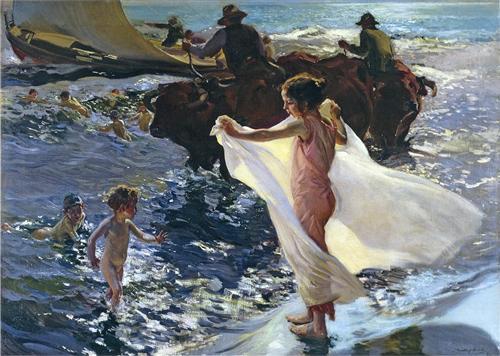 Bathing Time - Joaquín Sorolla