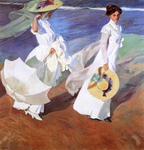 Promenade by the Sea, 1909 - Joaquín Sorolla