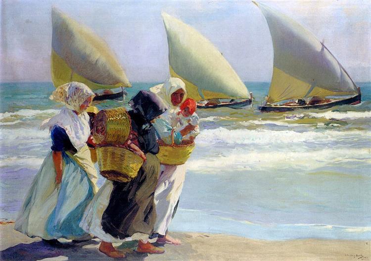 Three Sails, 1903 - Joaquín Sorolla