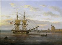 Entrance to the Port of Copenhagen - Johan Christian Clausen Dahl
