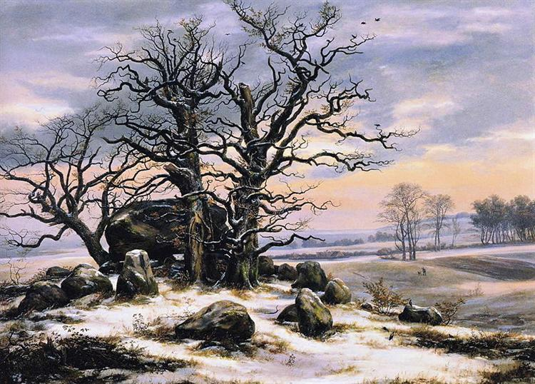 Megalith Grave in Winter, 1825 - Johan Christian Dahl