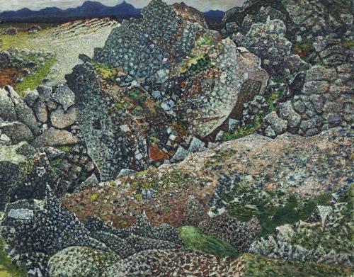 Lava at Bessastadir - Johannes Sveinsson Kjarval
