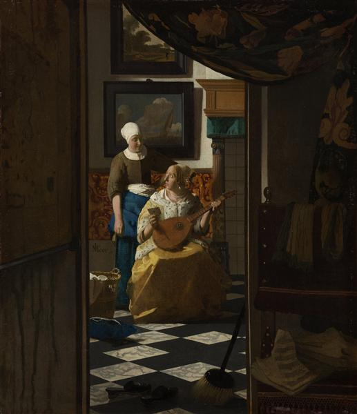 The Love Letter, c.1669 - Johannes Vermeer