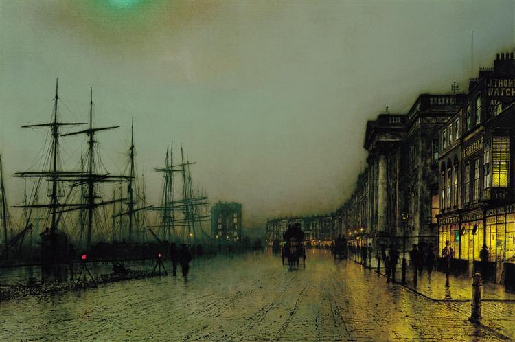 Canny Glasgow, 1887 - John Atkinson Grimshaw