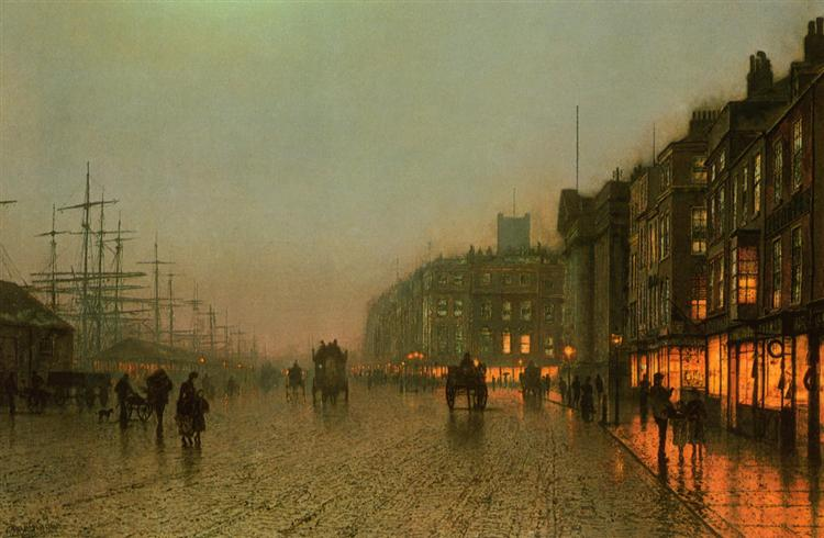 Liverpool from Wapping, 1875 - John Atkinson Grimshaw